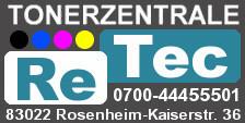 Logo von Retec-Tonerzentrale Rudolf Schor e.Kfm.