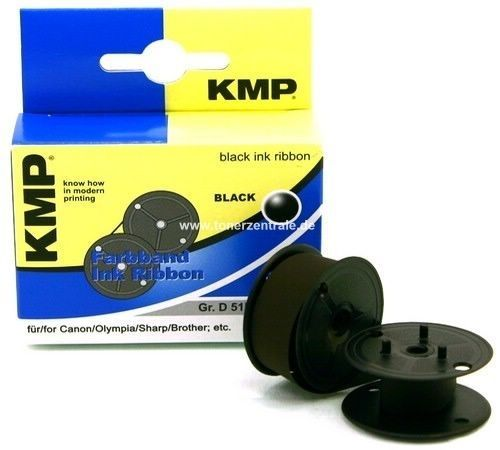 KMP 0051.0101 - Farbband Grp. 51 - 13mm-6m - Spule Nylon Schwarz