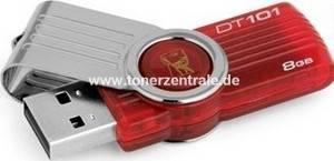 KINGSTON DT101G2 USB-Stick 8GB - DT101G2 red DataTraveler 101