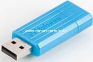 VERBATIM 47398 USB-Stick - 8GB PinStrip blau - 10MB-s lesen - 4MB-s schreiben 67x