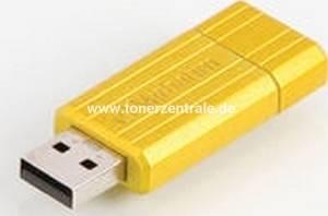 VERBATIM 47395 USB-Stick - 8GB PinStrip gelb - 10MB-s lesen - 4MB-s schreiben 67x