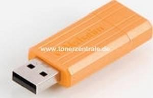 VERBATIM 47389 USB-Stick - 8GB PinStrip orange - 10MB-s lesen - 4MB-s schreiben 67x