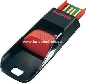SANDISK USB-Stick 16GB - SDCZ51-016G-B35 Cruzer Edge schwarz-rot