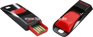 SANDISK USB-STICK 32GB - SANDISK SDZ51-03-G-B35 Cruzer Edge schwarz-rot