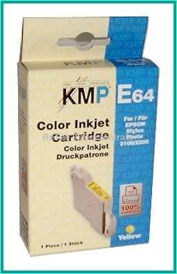 344N Gelb - KMP Tinte für Epson Stylus Photo 2100, 2200