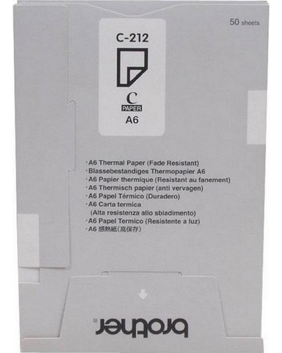 BROTHER MW 260 - S212S Thermo-Transfer-Papier DIN A6 light resistent - 50 Seiten, VE=20