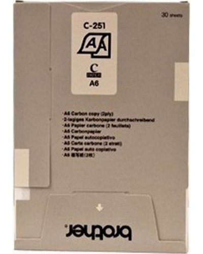 BROTHER MW 260 - S251S Thermo-Transfer-Papier DIN A6 - 50 Seiten, VE=10