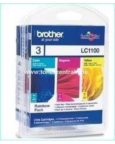Brother Tintenpatrone Standard 3er-Pack LC1100 - je 325 Seiten-55ml Cyan-Magenta-Yellow
