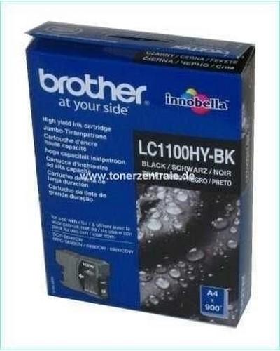 Brother Tintenpatrone Standard 450 Seiten, 9,5ml LC1100B  Schwarz
