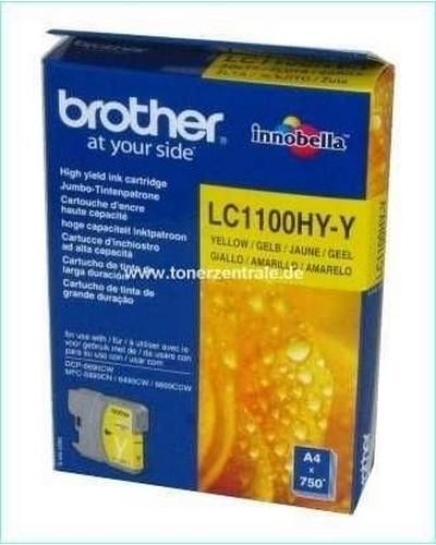 Brother LC1100Y Tintenpatrone 325 Seiten 7,5ml Yellow