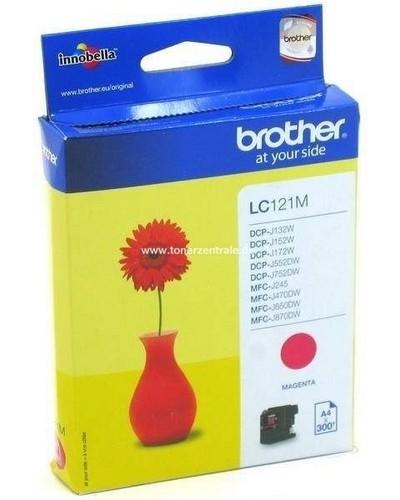 Brother Tintenpatrone LC121M - 300 Seiten Magenta