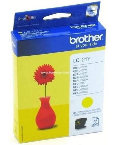 Brother Tintenpatrone LC121Y - 300 Seiten Gelb