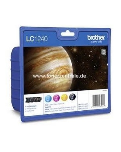Brother LC1240VALBP Tintenpatrone Multipack je 600 Seiten Schwarz-Cyan-Magenta-Yellow
