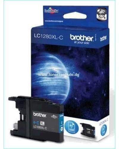 Brother LC1280XLC Tintenpatrone 1.200 Seiten Cyan