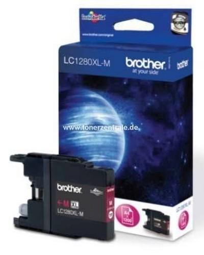 Brother LC1280XLM Tintenpatrone 1.200 Seiten Magenta
