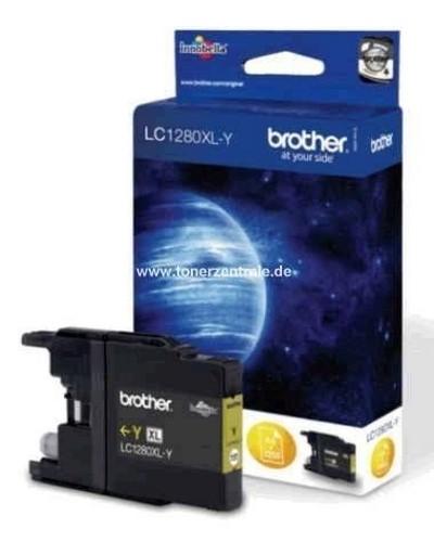 Brother LC1280XLY Tintenpatrone 1.200 Seiten Yellow