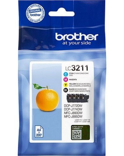 Brother MultiPack LC3211VAL DR Bk,C,M,Y 200 Seiten