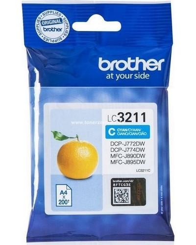 Brother Druckerpatrone LC3211C Cyan 200 Seiten