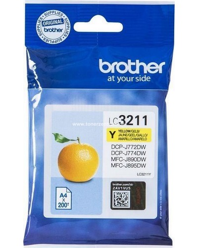 Brother Druckerpatrone LC3211Y Yellow 200 Seiten