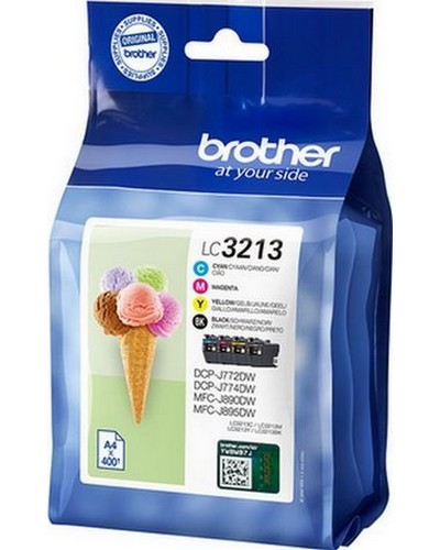 Brother MultiPack LC3213VAL DR Bk,C,M,Y 400 Seiten