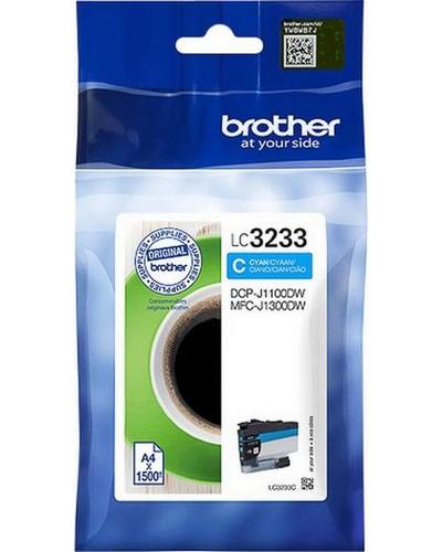 Brother Druckerpatrone LC3233C 1.500 Seiten Cyan