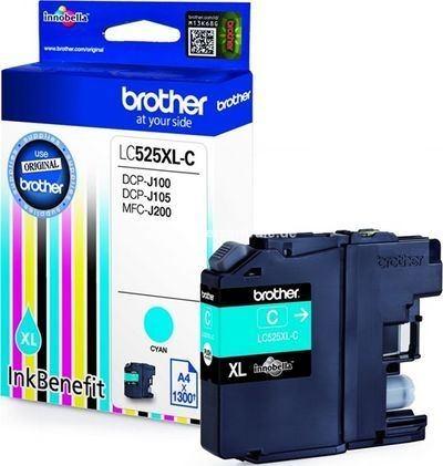 Brother DCPJ 100 - Druckerpatrone LC525XLC - 1.300 Seiten Cyan