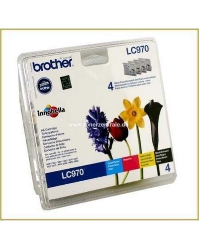Brother MultiPack Tintenpatronen LC-970 je 1 x BK-CY-MA-YE
