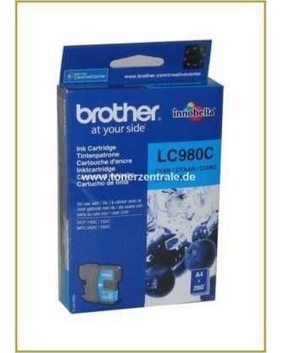 Brother Tintenpatrone LC-980C, 5,5ml Cyan