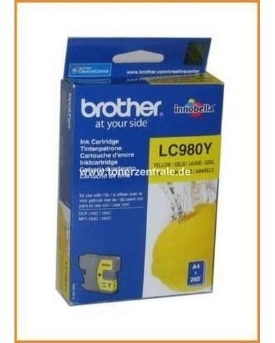 Brother Tintenpatrone LC-980Y, 5,5ml Yellow