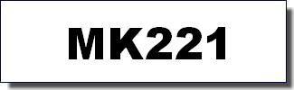 Brother Schriftband - MK-221 - 9 mm - 8 m - Schwarz auf Weiss