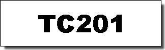 Brother Schriftband - TC-201 - 12 mm - Schwarz auf Weiss laminiert