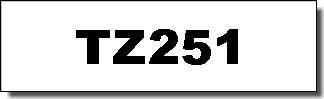 Brother Schriftband - TZ-251 - 24 mm - Schwarz auf Weiss laminiert