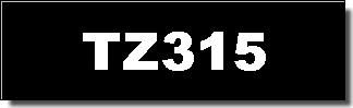 Brother Schriftband - TZ-315 - 6 mm - Weiss auf Schwarz laminiert