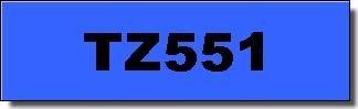 Brother Schriftband - TZ-551 - 24 mm - Schwarz auf Blau laminiert