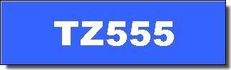 Brother Schriftband - TZ-555 - 24 mm - Weiss auf Blau laminiert