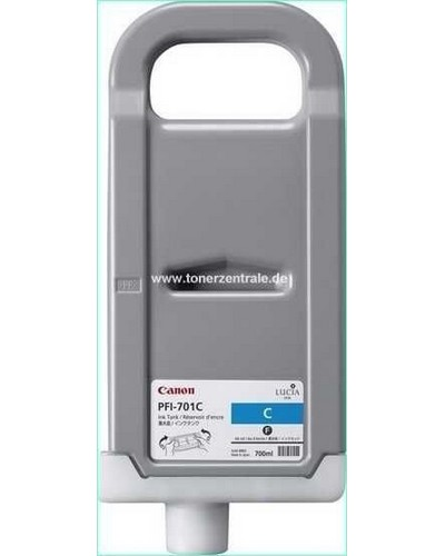 Canon IPF8000, 9000 - PFI701C Druckerpatrone - 700ml Cyan
