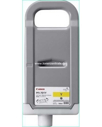 Canon IPF8000, 9000 - PFI701Y Druckerpatrone - 700ml Yellow