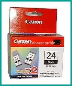 BCI24BK - TWIN 2 x Schwarz Druckkopf Canon S-200/300, i-250/320/350/450/55/70/75/90, font color=orangeACHTUNG! Artikel eingestellt. Mögliche Alternativen bitte anfragen!/font