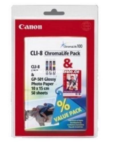 Canon CLI-8 MultiPack - Inkcatridge Cyan-Magenta-Yellow