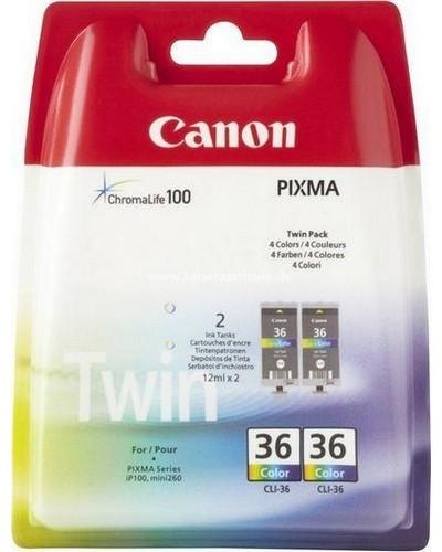 CANON PIXMA IP 100 - CLI36 Druckerpatrone Doppelpack - 249 Seiten, 12 ml, VE=2 Color