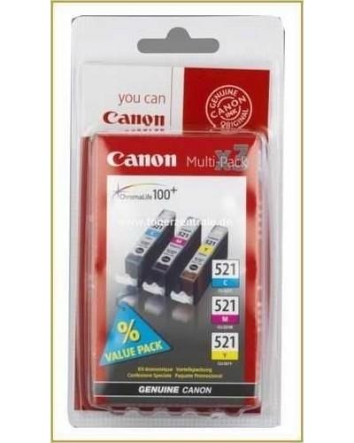 Canon CLI521 MultiPack Tintenpatrone je 9ml Cyan-Magenta-Yellow