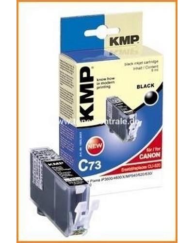 KMP C73 Tintenpatrone mit Chip (Kompatibel zu Canon CLI521) 9ml Schwarz Photo
