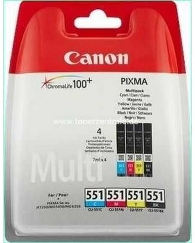 Canon CLI551 Druckerpatrone - je 7ml Bk,C,M,Y