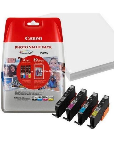 Canon PIXMA MG 5450 - MultiPack CLI551 XL Bk,C,M,Y + Fotopapier PP201