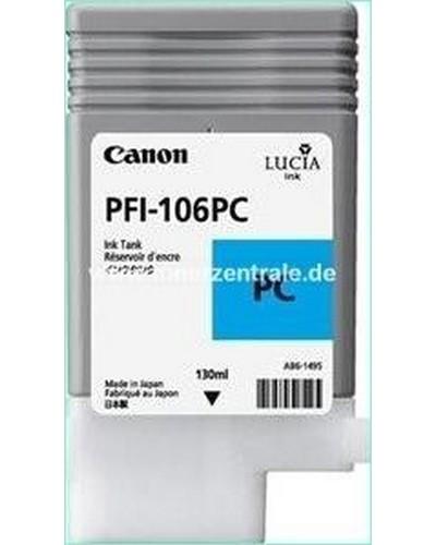 Canon IPF 6300, 6400 - PFI106PC PFI105PC Druckerpatrone - 130ml Cyan Hell