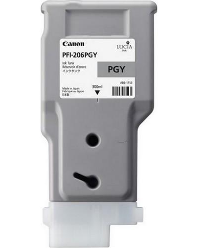 Canon IPF 6400, 6450 - PFI206PGY Druckerpatrone - 300ml Grau Hell