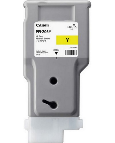 Canon IPF 6400, 6450 - PFI206Y Druckerpatrone - 300ml Gelb