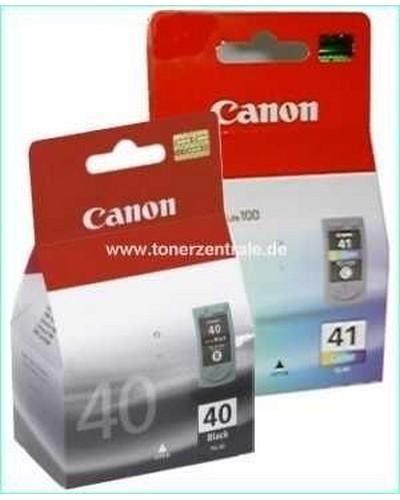Multipack Canon CL41 Tintenpatrone (12ml) Color plus Canon PG40 (16ml) Schwarz