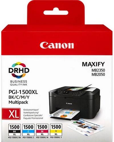 Canon Maxify MB 2050 - XL Multipack Tintenpatrone PGI1500XL - je 1.000 Seiten Black, Cyan, Magenta, Yellow