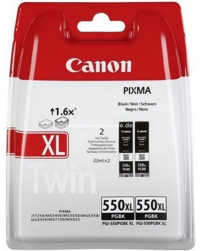 CANON PIXMA MG 5450 - PGI550PGBKXL Doppelpack - Schwarz Pigmentiert 500 Seiten